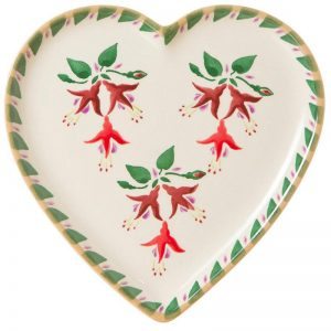 Nicholas Mosse Medium Heart Plate - Fuschia