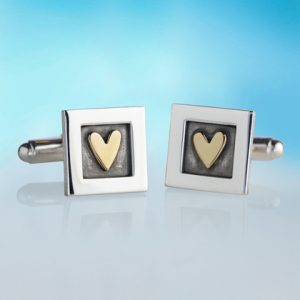 Alan Ardiff Heart of Gold Cufflinks