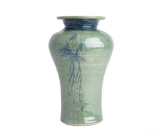 Louis Mulcahy Shoulder Vase Green