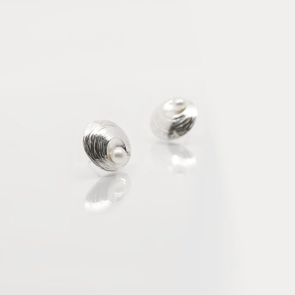 Martina Hamilton Silver & Pearl Stud Earrings